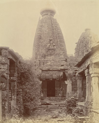 Front view of old Jain temple at Pathari, Bhopal State
